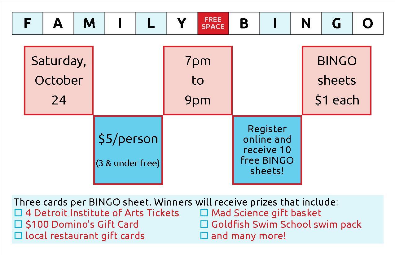 Bingo Night half sheet