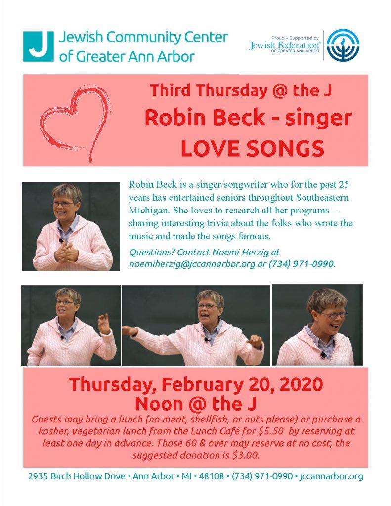 Third Thursday @ the J: Robin Beck Sings Love Songs