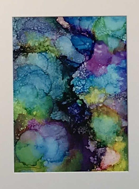 Alcohol Ink Project by Leslie Masters' Students